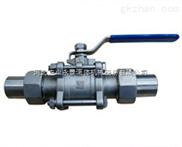 河北宏业三件式活接对焊球阀厂家 三个式活接对焊球阀报价