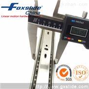 foxslide45宽三节滚珠不锈钢工业抽屉滑轨