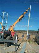 福田804 拖拉机挖坑机立杆机 液压打孔机 价格 冻土可用