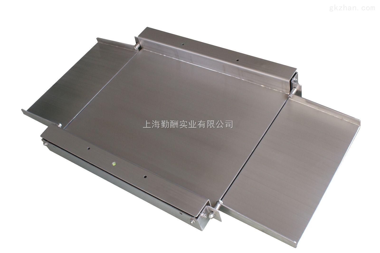 不锈钢超低双层平台秤、带引坡地磅秤