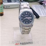 供应ASG-H双日历手表式近电报警器,男款黑面全钢手表