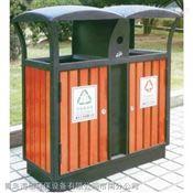 钢木分类果皮箱HS-327户外垃圾箱分类垃圾箱环保垃圾箱垃圾箱厂家