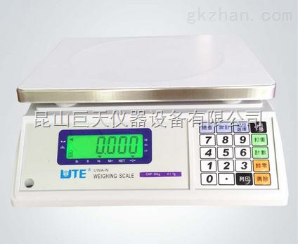 联贸UWA-N-15kg电子计重桌秤,30公斤电子称价格