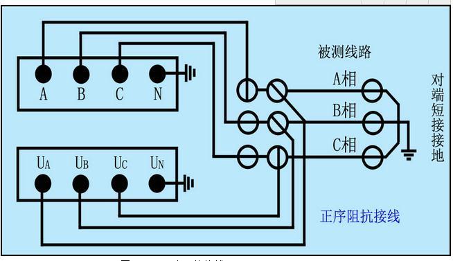 3,异频线路参数测试仪线路互感接线(如下图) 线路互感器接线图 5.